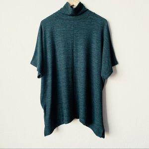 Mock Turtleneck Short Sleeve Knit Top - Size XL